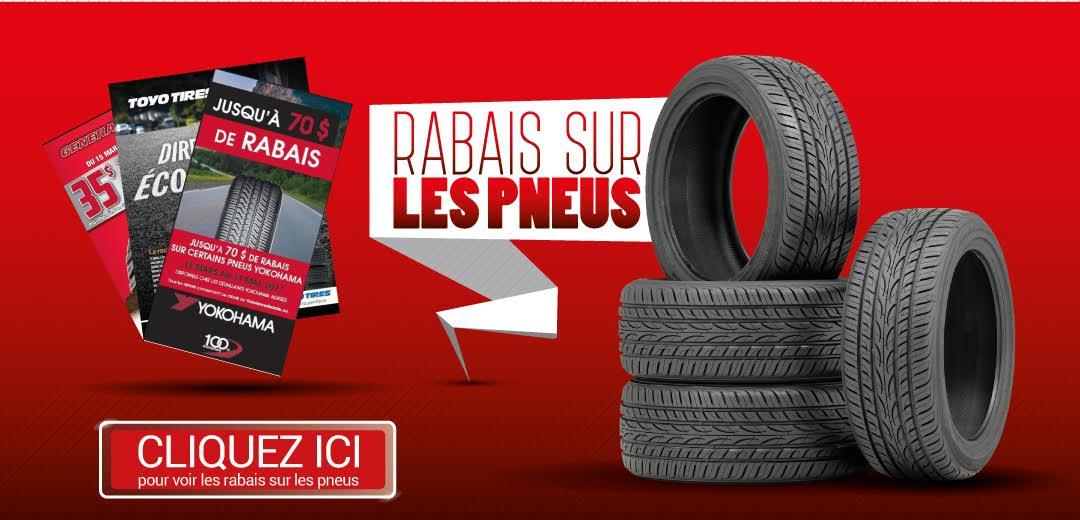 rabais sur les pneus neufs